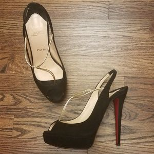 Christian Louboutin peep toe heels 39 140mm